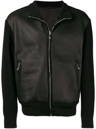 Giorgio Armani leather bomber jacket