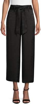 Calvin Klein Suit Separates Cropped Wide-Leg Pants