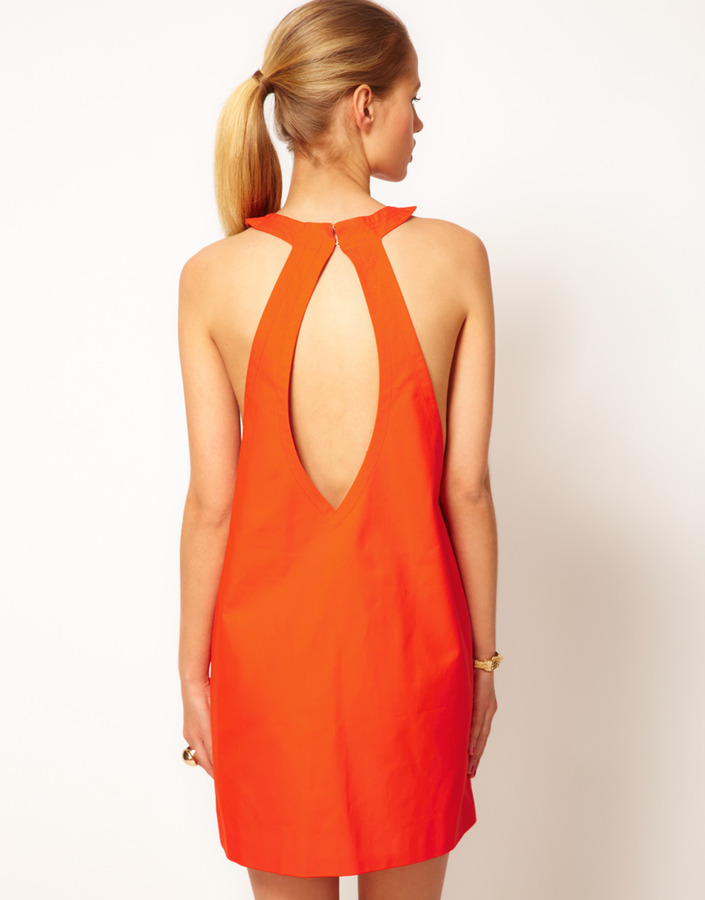 M Missoni Halter Neck Shift Dress With Cut-Out Back