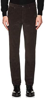 Incotex MEN'S M-BODY MODERN-FIT STRETCH-COTTON CORDUROY TROUSERS
