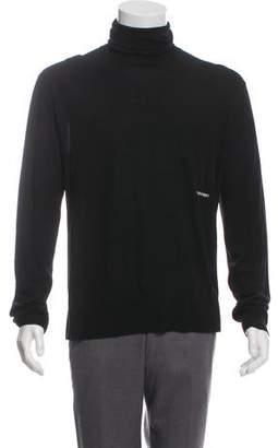 Calvin Klein Logo Embroidered Turtleneck Sweater