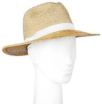Merona; Women's Straw Hat Panama Two Tone Tan - Merona; $14.99 thestylecure.com
