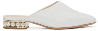Nicholas Kirkwood White Casati Pearl Slippers