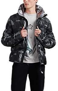 KRU Men's Stratos Reversible Camouflage Tech-Taffeta Puffer Coat - Gray