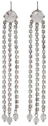Miu Miu Silver Crystal Three Tier Earrings