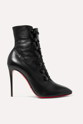 01e7c12c24d9 Christian Louboutin French Tutu 100 Leather Ankle Boots - Black