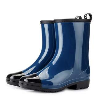 Hunter HHmei Women's Short Rain Boots Waterproof Slip On Ankle Booties Buckle Round Toe Shoes High Tube Boot, Fire And Safety Shoes - Arctic Muck Saltwater Short Wool