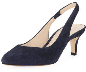 Pelle Moda Kadance Suede Low-Heel Slingback Pumps