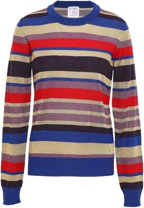 Stella Jean Metallic Striped Wool-blend Top