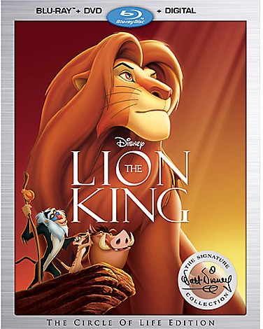 The Lion King Blu-ray Combo Pack with FREE Lithograph Set Offer - Pre-Order