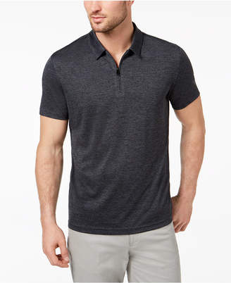 Alfani Men's Quarter Zip Polo, Created for Macy's