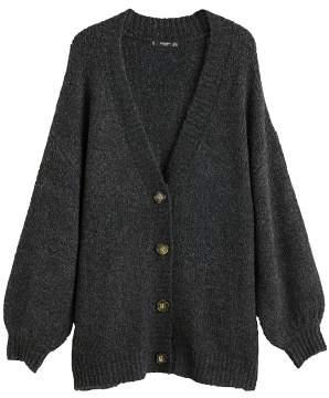 MANGO Buttoned long cardigan