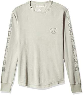 True Religion Men's Long Sleeve Thermal with Studded Graphics