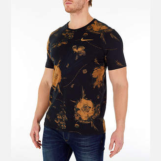 Nike Men's Dry Floral All-Over Print T-Shirt