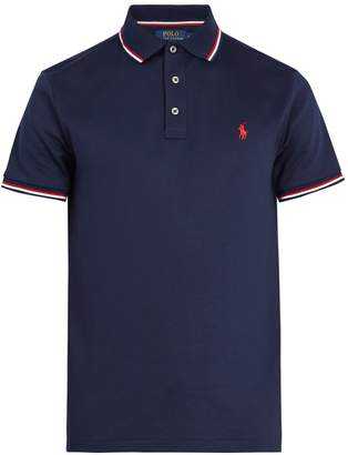 Polo Ralph Lauren Logo-embroidered striped pima cotton polo shirt
