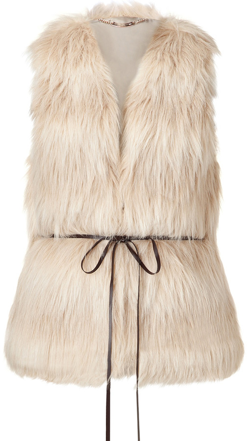 Juicy Couture Natural Polar Vest with Belt
