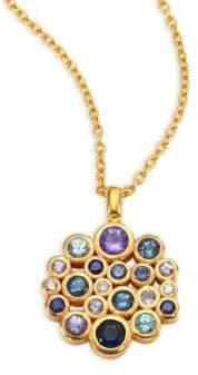 Gurhan Pointelle Diamond, Multi-Stone& 24K Yellow Gold Pendant Necklace