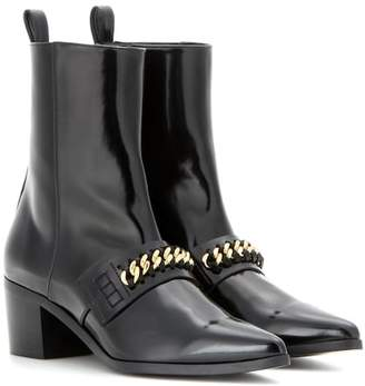 Stella McCartney Embellished patent ankle boots
