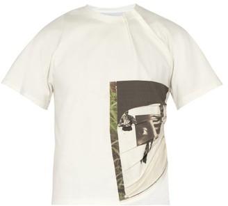 Bianca Saunders - X Troy Michie Cropped T Shirt - Mens - Black Green