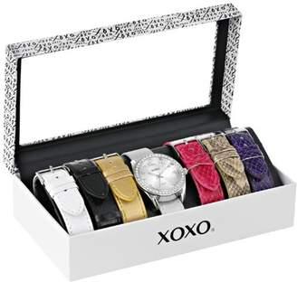 XOXO Women's XO9062 Silver-Tone Watch with Interchangeable Bands