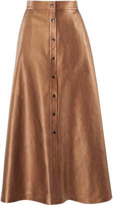 Lake Studio Button Front Midi Skirt