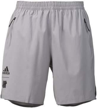 adidas X UNDEFEATED logo track shorts