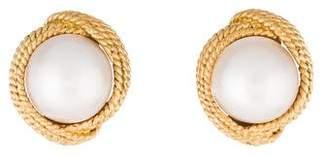 18K Mabé Pearl Earrings