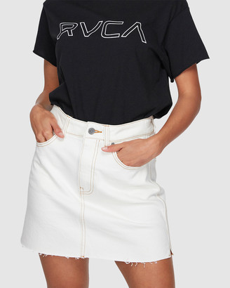 RVCA Rowdy Reworked Denim Skirt