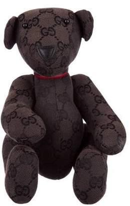 Gucci Monogrammed Teddy Bear Brown Monogrammed Teddy Bear