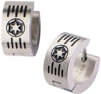 Star Wars FINE JEWELRY Stainless Steel Galactic Empire Cog and Grate Logo Hoop Earrings