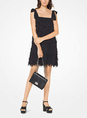Michael Kors Dot Jacquard Fringed Dress