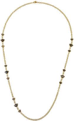 Amrapali Legend Nalika Lotus Station Necklace in 18k Yellow Gold w\/ Labradorite & Diamonds