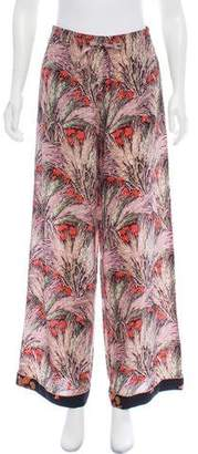 Valentino High-Rise Silk Pants
