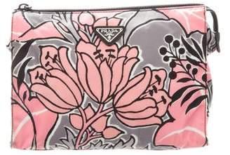 Prada Animal Print Cosmetic Bag