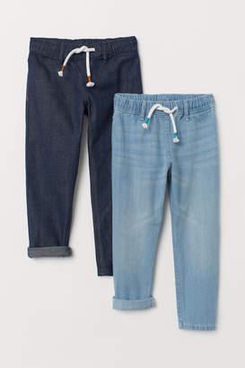 H&M 2-pack denim joggers