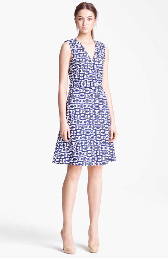 Marni Belted Geo Print Dress