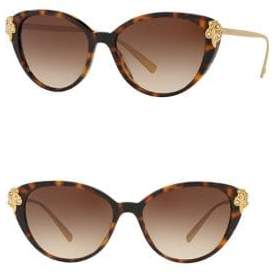 Versace 55MM Havana Cat Eye Sunglasses