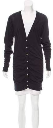 Fendi Gathered Button-Up Cardigan