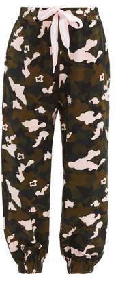 The Upside Camouflage Print Jersey Track Pants - Womens - Multi
