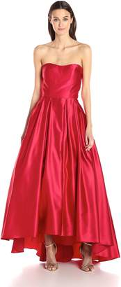 Betsy & Adam Women's Strapless Ball Gown
