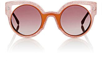Fendi Women's Cutout-Lens Rounded Cat-Eye Sunglasses $550 thestylecure.com