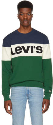 Levi's Levis Blue Colorblock Sweatshirt