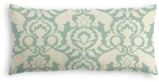Loom Decor Lumbar Pillow Cirque Du Scroll - Aqua Foam