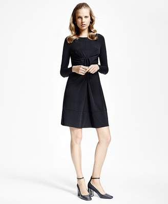 Jersey-Knit Front-Tucked Dress $148 thestylecure.com
