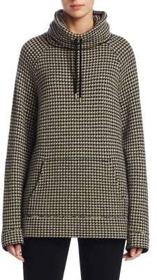 Ralph Lauren Collection Funnelneck Houndstooth Sweatshirt