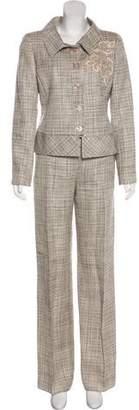 Valentino Silk & Linen Pantsuit