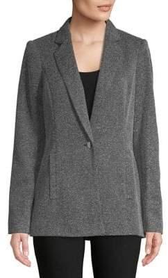 Calvin Klein Marled Single-Button Blazer