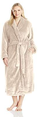 "Casual Moments Women's Plus Size 50"" Set in Belt Wrap Robe"