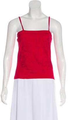 Christian Lacroix Square Neck Sleeveless Top