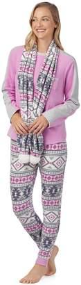 Cuddl Duds Women's Wonderland 3-piece Microfleece Pajama Set
